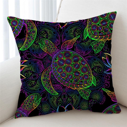 Coastal Pillow Cover-Sea Turtle Mystery Pillow Cover-Coastal Passion