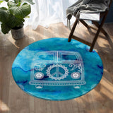 Coastal -The Cool Kombi Round Floor Mat-Coastal Passion