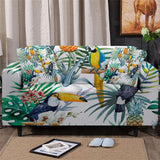 Coastal Sofa Slipcover-Tropical Rainforest Couch Cover-Coastal Passion