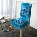 Coastal Dining Chair Cover-The Cool Bus Chair Cover-Coastal Passion