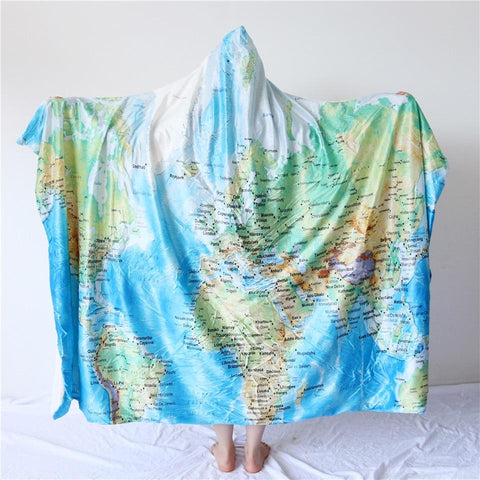 The Seven Seas Cozy Hooded Blanket-Fleece Hooded Blanket-Australian Coastal Passion