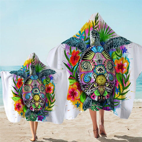 Coastal Hooded Towel-The Original Turtle Mystic Hooded Towel-Coastal Passion