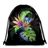 Coastal Round Beach Towel-Trop Love Towel + Backpack-Coastal Passion