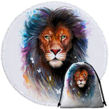 Coastal Round Beach Towel-The Original Lion Spirit Towel + Backpack-Coastal Passion