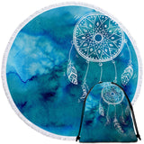 Coastal Round Beach Towel-Ocean Dreaming Towel + Backpack-Coastal Passion