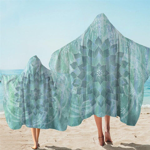 Coastal Hooded Towel-The Ocean Hues Hooded Towel-Coastal Passion