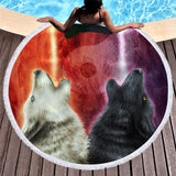 Wild Spirit Round Beach Towel Collection-Round Beach Towel-Adult: 150 cm diameter-Wild Spirit 6-Australian Coastal Passion