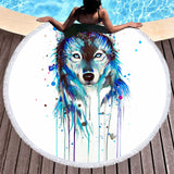 Wild Spirit Round Beach Towel Collection-Round Beach Towel-Adult: 150 cm diameter-Wild Spirit 7-Australian Coastal Passion