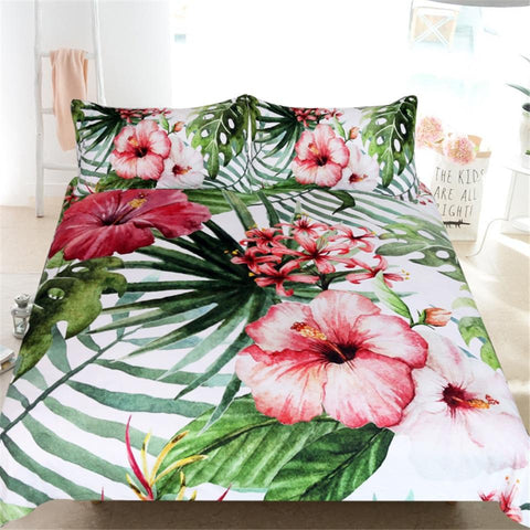 Tropical Hibiscus Doona Cover Set-Doona Quilt Cover Set-Australian Coastal Passion