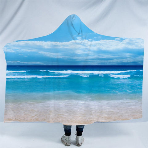 Peace of the Beach Cozy Hooded Blanket-Fleece Hooded Blanket-Australian Coastal Passion