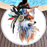 The Original Fox Mystic Fun Beach Towel-Round Beach Towel-Adult: 150 cm diameter-Australian Coastal Passion