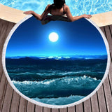 Beach Please Round Beach Towel Collection-Round Beach Towel-Ocean Moon-Adult: 150 cm diameter-Australian Coastal Passion