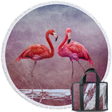 Coastal Round Beach Towel-Ladies In Pink Round Beach Towel-Coastal Passion