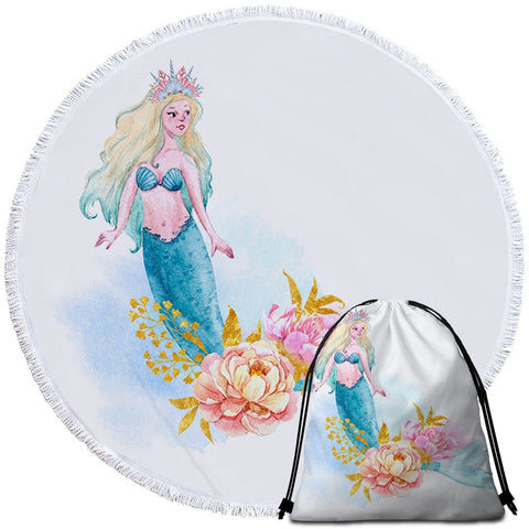 Coastal -Sweet Mermaid Towel for Kids-Coastal Passion