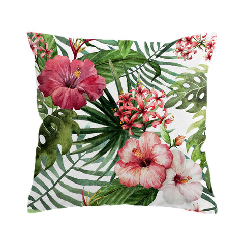 Coastal -Tropical Hibiscus Cushion Cover Set-Coastal Passion