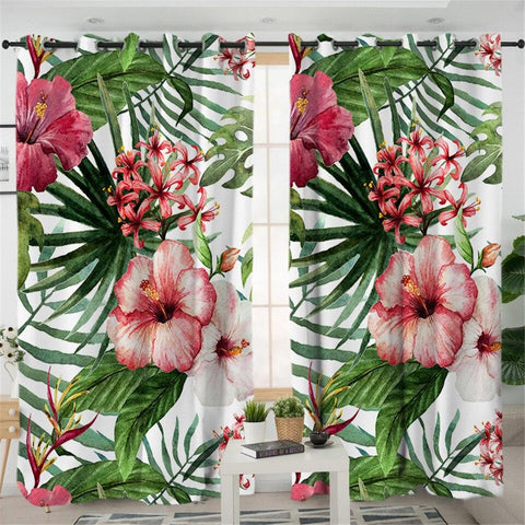 Coastal Curtain-Tropical Hibiscus Curtains-Coastal Passion