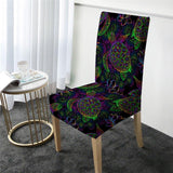 Coastal Dining Chair Cover-Sea Turtle Mysteries Chair Cover-Coastal Passion