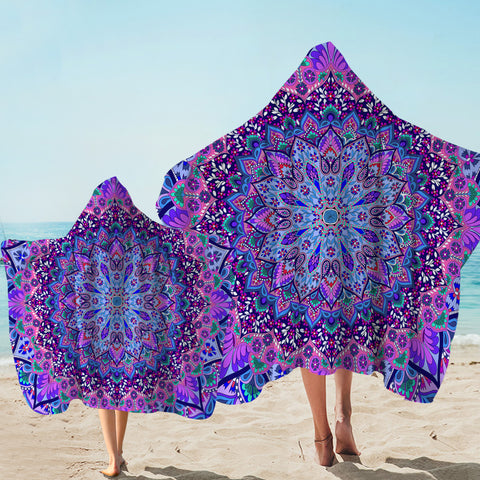 Coastal Hooded Towel-Cosmic Bohemian Hooded Towel-Coastal Passion