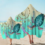 Coastal Hooded Towel-The Dreamcatcher and Sea Turtle Hooded Towel-Coastal Passion