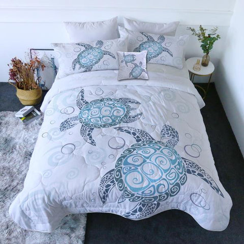 Coastal Doona Quilt Cover Set-Turtle Twist Quilt Set-Coastal Passion