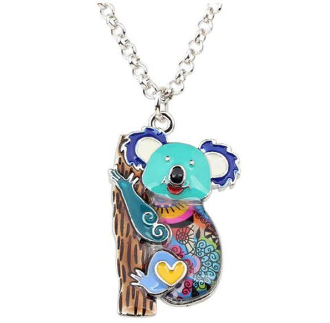 Beachy Bear - Enamel Pendant Necklace-🇦🇺 Australian Coastal Passion