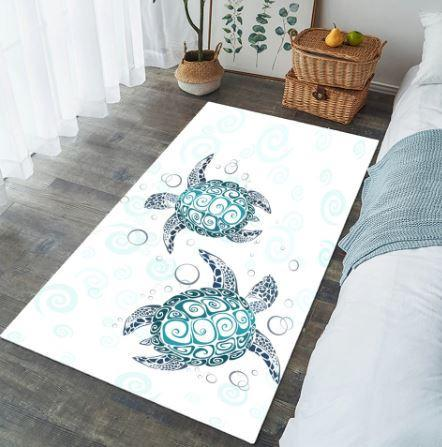 Coastal -The Original Turtle Twist Floor Mat-Coastal Passion