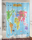 The Seven Seas for Kids Shower Curtain-Shower Curtain-Australian Coastal Passion