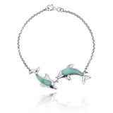 Coastal Bracelet-Playing Dolphins with Larimar Bracelet-Coastal Passion