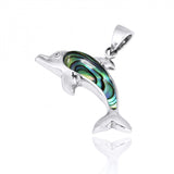 Coastal Pendant-Dolphin with Abalone shell Pendant-Coastal Passion
