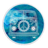 The Cool Kombi Round Beach Towel-Round Beach Towel-Adult: 150 cm diameter-Australian Coastal Passion