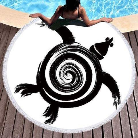 Tongan Turtle Round Beach Towel-Round Beach Towel-Adult: 150 cm diameter-Australian Coastal Passion