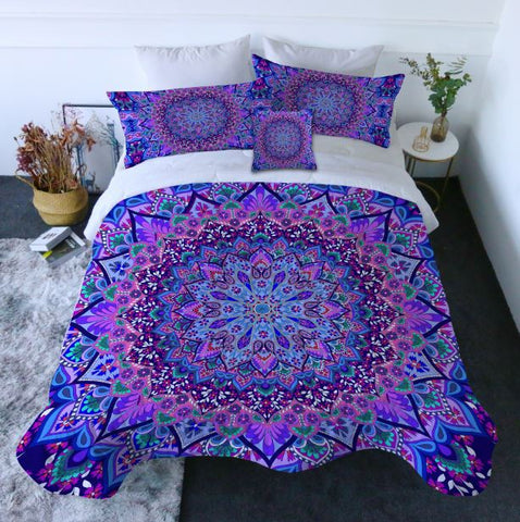 Coastal Doona Quilt Cover Set-Cosmic Bohemian Quilt Set-Coastal Passion