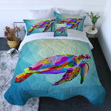 Coastal Doona Quilt Cover Set-Maui Sea Turtle Quilt Set-Coastal Passion