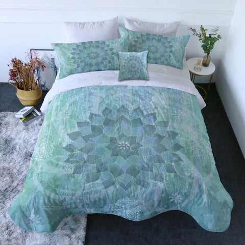 Coastal Doona Quilt Cover Set-The Ocean Hues Quilt Set-Coastal Passion