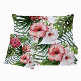Coastal Doona Quilt Cover Set-Tropical Hibiscus Quilt Set-Coastal Passion
