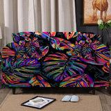 Coastal Sofa Slipcover-Electropical Couch Cover-Coastal Passion