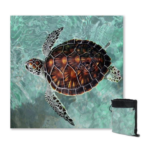 Coastal Sand Free Beach Towel-Turtle Chic Sand Free Towel-Coastal Passion