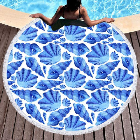 Coastal Round Beach Towel-Shelly Round Beach Towel-Coastal Passion