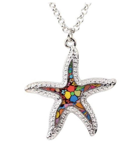 Salty Starfish - Enamel Pendant Necklace-🇦🇺 Australian Coastal Passion