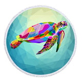 Coastal Round Beach Towel-The Original Maui Sea Turtle Towel + Backpack-Coastal Passion