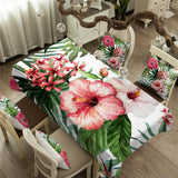 Coastal Tablecloth-Tropical Hibiscus Tablecloth-Coastal Passion