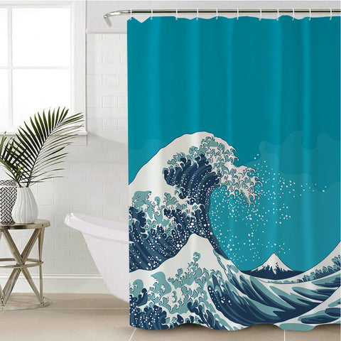 The Great Wave Shower Curtain-Australian Coastal Passion
