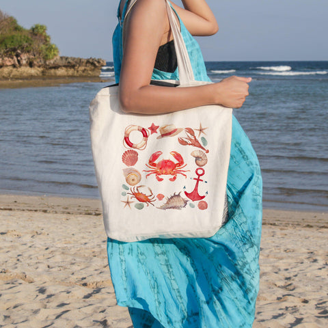 The Red Crab Beach Tote-🇦🇺 Australian Coastal Passion