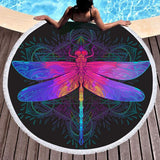 Coastal Round Beach Towel-The Original Dragonfly Dreams Round Beach Towel-Coastal Passion