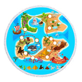 Treasure Island - Baby Size 100 cm-Round Beach Towel-Australian Coastal Passion