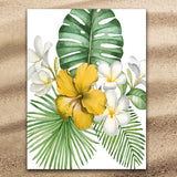 Coastal Beach Towel-Tropical Flowers Jumbo Beach Towel-Coastal Passion