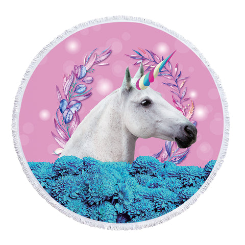 Real Unicorn - Baby Size 100 cm-Round Beach Towel-Australian Coastal Passion
