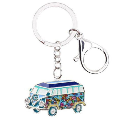 The Beach Bus - Enamel Pendant Key Ring-🇦🇺 Australian Coastal Passion