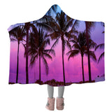 Tropical Skies Cozy Hooded Blanket-Coastal Passion