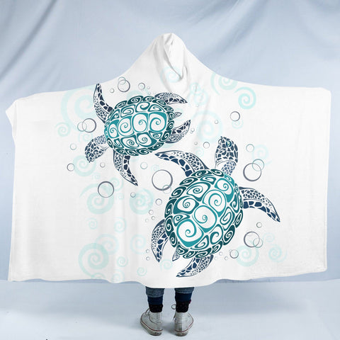 The Sea Turtle Twist Cozy Hooded Blanket-Fleece Hooded Blanket-Australian Coastal Passion